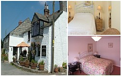 The Cornish Arms offers bed and breakfast at Pendoggett