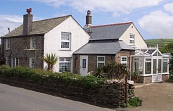 Grange Cottage is close to the coastal footpath and rugged cliffs and within easy walking distance of Tintagel Castle and shops.  No-smoking . Off-road road  parking.