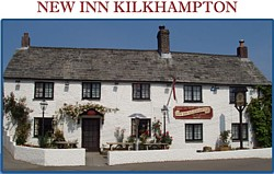 New Inn at Kilkhampton in Cornwall-5 star bed and breakfast accommodation.
